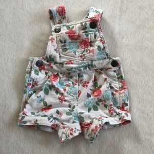 Carters Short Overalls Floral 3 Month